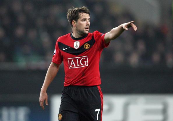 Manchester United's Michael Owen gesture