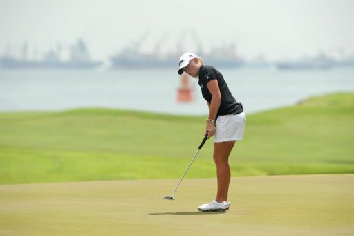 Stacy Lewis, pictured during round two of the HSBC Women's Champions LPGA tournament in Singapore, on March 1, 2013