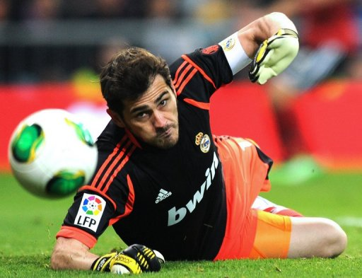 Real Madrid's captain Iker Casillas pictured at Bernebau on January 9, 2013, expects a backlash from Barcelona