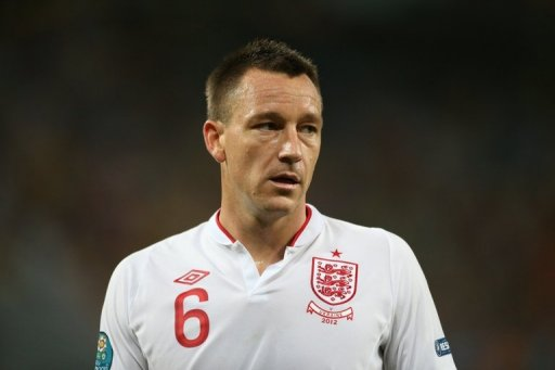 English defender John Terry during the Euro 2012 football championships match England vs Ukraine on June 19, 2012