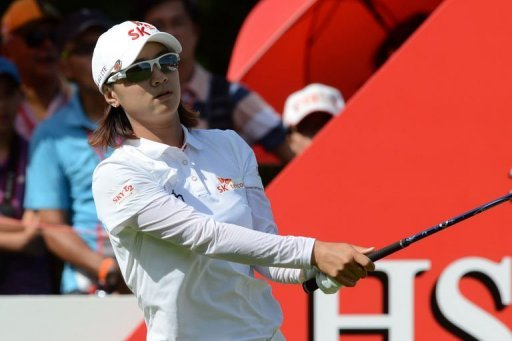 Choi Na Yeon of South Korea at the Serapong Course in Singapore on March 2, 2013