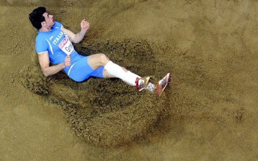 Italy's Daniele Greco competes in the men's triple jump final on March 2, 2013