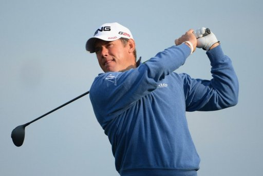 Lee Westwood of England plays a shot on the 16th hole on March 2, 2013 in Palm Beach Gardens, Florida