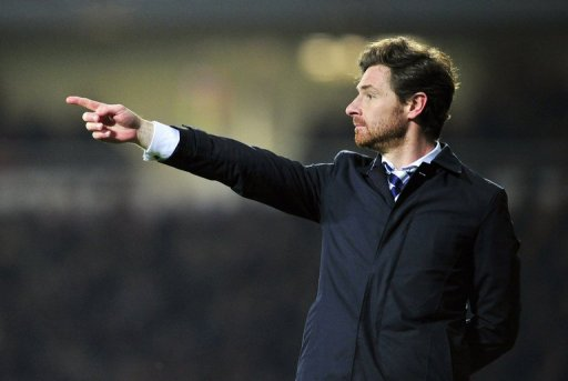 Tottenham manager Andre Villas-Boas is pictured at their Premier League game against West Ham on February 25, 2013