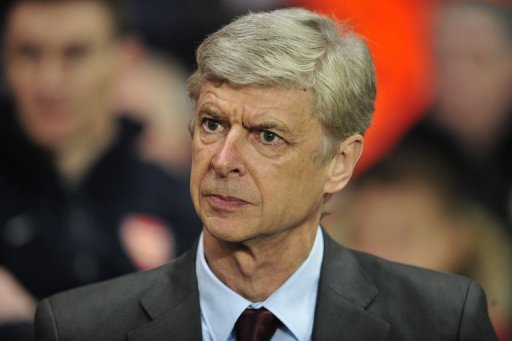 Arsenal manager Arsene Wenger is pictured at their Champions League match against Bayern Munich on February 19, 2013