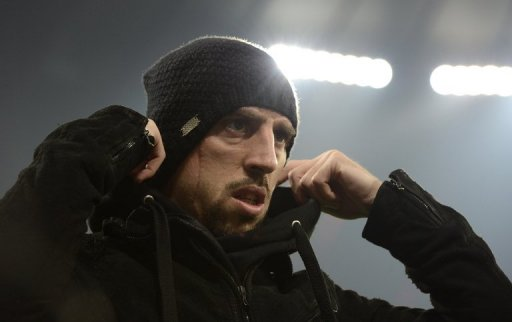Bayern's Franck Ribery is pictured ahead of his side's German Cup match against Borussia Dortmund on February 27, 2013