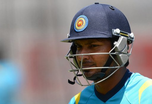 Former Sri Lanka skipper Kumar Sangakkara is pictured during a match in Melbourne on December 25, 2012