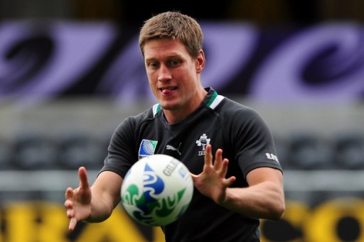 Ireland's Ronan O'Gara attends the Captain's Run, on October 1, 2011 at the Otago stadium in Dunedin, New Zealand