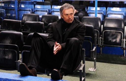 Inter Milan's Jose Mourinho is shown during a match against Chelsea at Stamford Bridge on March 16, 2010