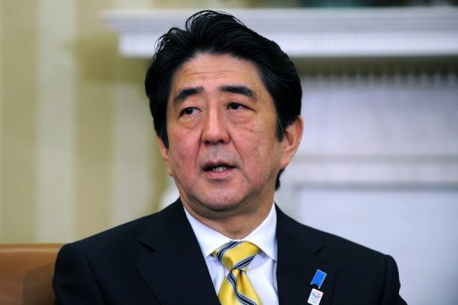 Shinzo Abe speaks following a bilateral meeting with US President Barack Obama in Washington on February 22, 2013