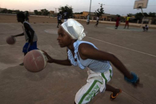 Fatoumata plays basketball at the former