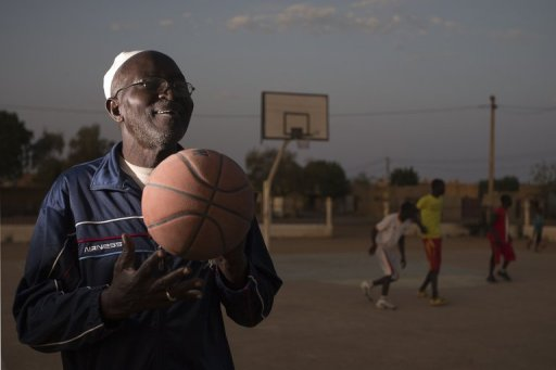 Basketball coach Oumar Tonko Cisse, 60, pictured in Gao, northern Mali, on February 26, 2013