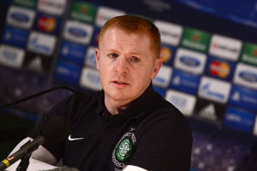 Celtic manager Neil Lennon gives a press conference on March 5, 2013 in Turin