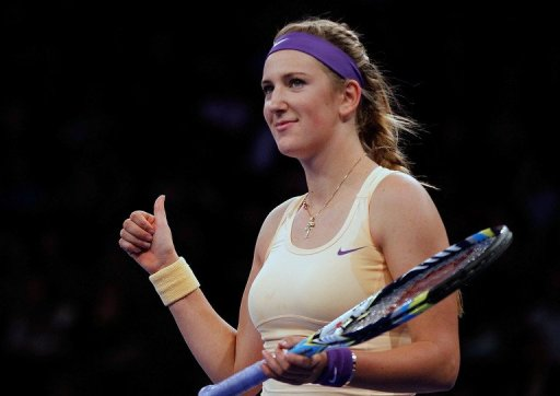 Victoria Azarenka, pictured during the BNP Paribas Showdown at Madison Square Garden in New York, on March 4, 2013