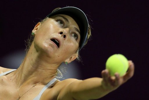 Maria Sharapova, seen in action during a match at WTA Qatar Open, in Doha, on February 16, 2013