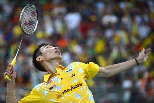 Malaysia's Lee Chong Wei returns a shot in Kuala Lumpur on January 20, 2013