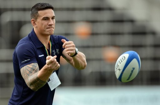 Sonny Bill Williams, pictured on September 1, 2012, is set to return to rugby league action after a spell in rugby union