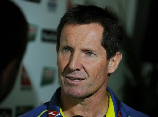 Wallabies coach Robbie Deans is interviewed in Sydney on August 10, 2012