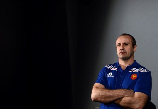 France's head coach Philippe Saint-Andre attends a press conference on March 7, 2013 in Marcoussis