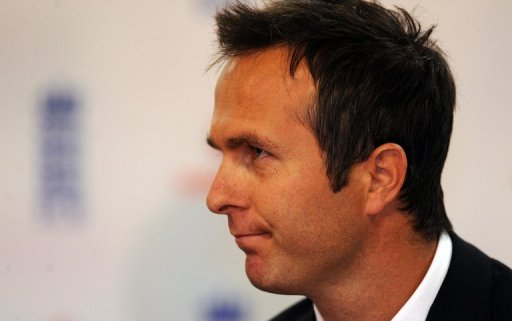 Michael Vaughan gives a press conference in Birmingham, central England, on June 30, 2009
