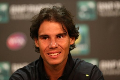 Rafael Nadal is pictured at a press conference on day two of the Indian Wells on March 7, 2013