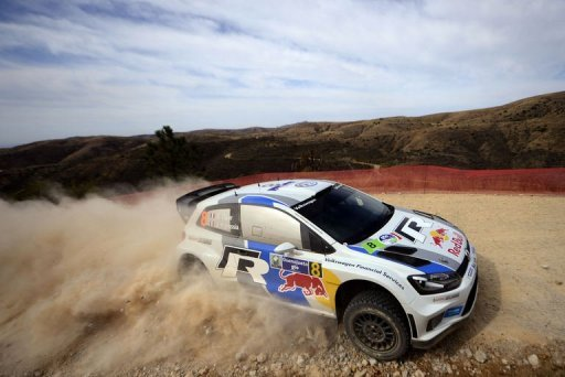 France's Sebastien Ogier drives during the first day of the Rally of Mexico on March 8, 2013