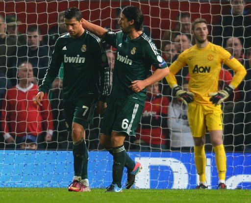 Real Madrid beat Manchester United 2-1 at Old Trafford on March 5, 2013 to reach the next round of the Champions League