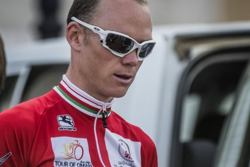 British cyclist Christopher Froome is pictured in Oman on February 15, 2013