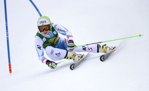 Austrian Anna Fenninger competes competes during the FIS World Cup Women's Giant Slalom in Ofterschwang, March 9, 2013