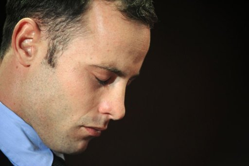 South African Olympic sprinter Oscar Pistorius is pictured at the Magistrate Court in Pretoria on February 22, 2013