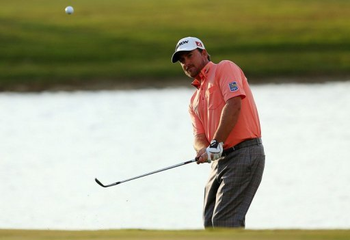 Graeme McDowell is pictured during the final round of the WGC-Cadillac Championship on March 10, 2013
