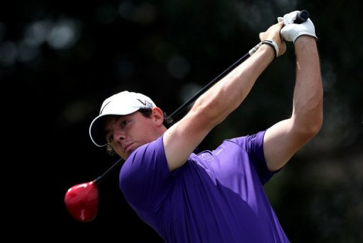 Rory McIlroy tees off during the final round of the WGC-Cadillac Championship in Florida on March 10, 2013
