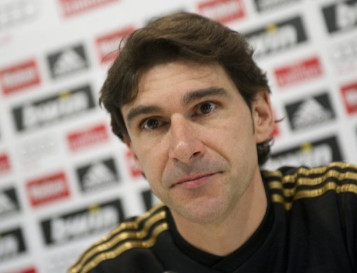 Real Madrid assistant boss Aitor Karanka is pictured at a press conference in Madrid on December 21, 2011