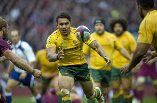 Wallaby winger Digby Ioane is pictured during an International rugby union test match in England on November 17, 2012
