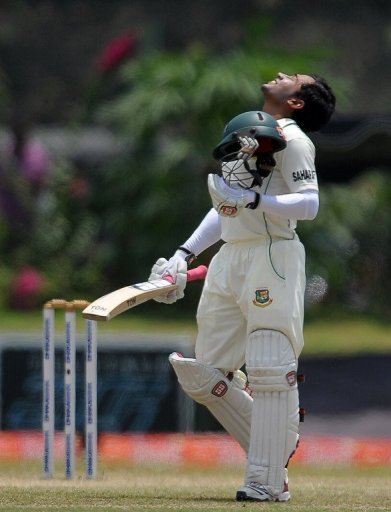 Bangladeshi captain Mushfiqur Rahim at the Galle International Cricket Stadium on March 11, 2013