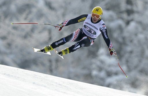 Croatian Ivica Kostelic during the FIS World Cup men's downhill in Garmisch-Partenkirchen, Germany, February 23, 2013