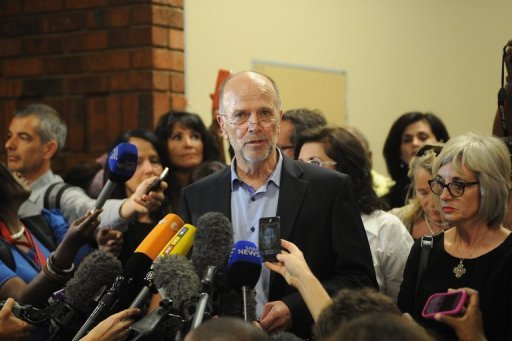Arnold Pistorius, uncle of Olympic sprinter Oscar Pistorius, in the Pretoria courthouse on February 22, 2013