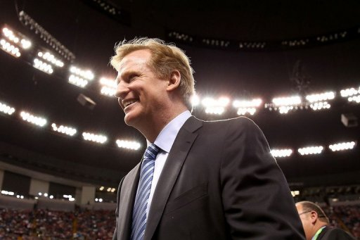 NFL Commissioner Roger Goodell looks on from the field during Super Bowl XLVII on February 3, 2013 in New Orleans