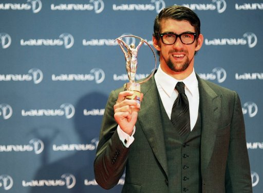 Michael Phelps at the Laureus Sports Awards in Rio on March 11, 2013