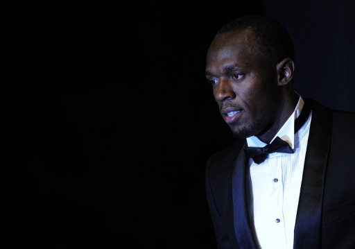 Usain Bolt is pictured at the International Association of Athletics Federations gala in Barcelona on November 24, 2012