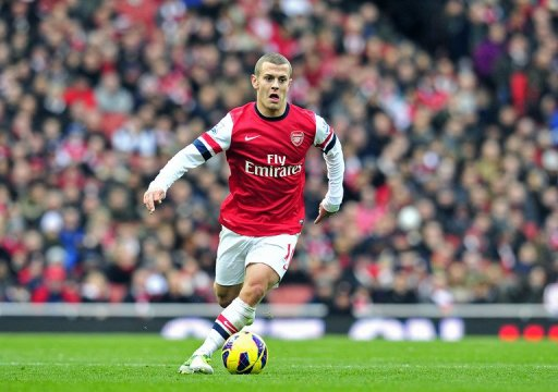 Arsenal's English midfielder Jack Wilshere at The Emirates Stadium in north London, England on October 27, 2012.