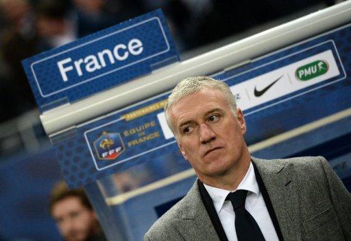 France's head coach Didier Deschamps at the Stade de France in Saint-Denis, near Paris on February 6, 2013
