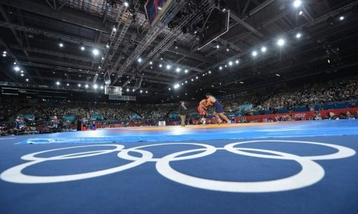View during Greco-Roman wrestling at the London 2012 Olympic Games on August 6, 2012