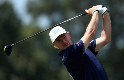 Ernie Els tees off on the third hole during the WGC - Cadillac Championship on March 9, 2013 in Doral, Florida
