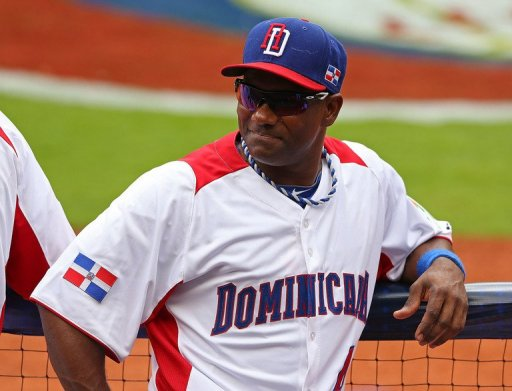 Miguel Tejada of the Dominican Republic looks on at Marlins Park on March 12, 2013
