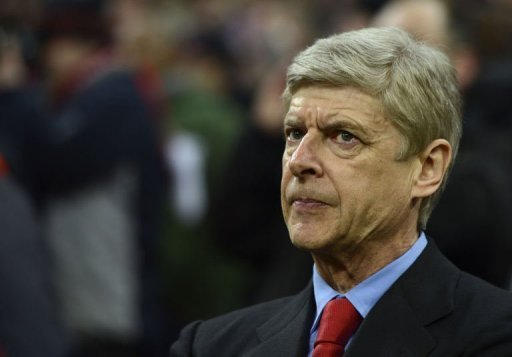 Arsenal coach Arsene Wenger prior to the UEFA Champions League match at Bayern Munich on March 13, 2013