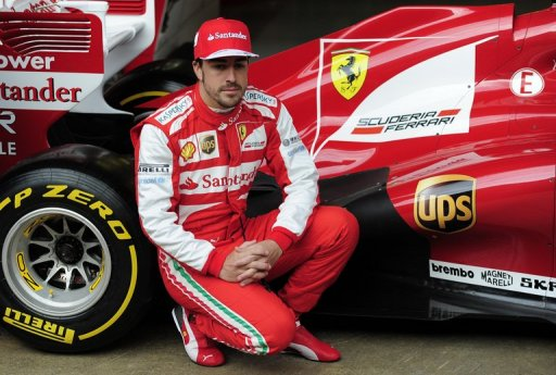 Ferrari driver Fernando Alonso pictured during testing on February 19, 2013
