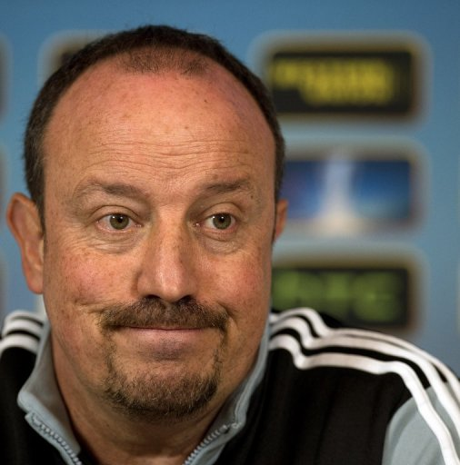 Chelsea's interim manager Rafael Benitez gives a press conference on March 13, 2013