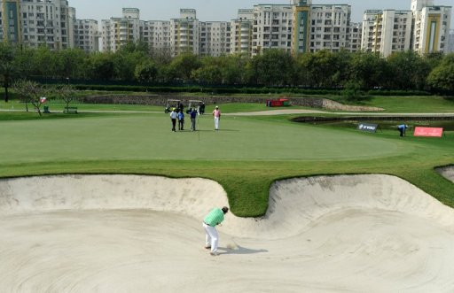 The Greg Norman-designed par-72 Jaypee Greens in Greater Noida, on the outskirts of New Delhi, on March 13, 2013