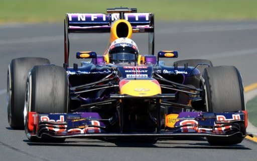 Red Bull's Sebastian Vettel, pictured during a practice session at the F1 Australian GP, in Melbourne, on March 15, 2013